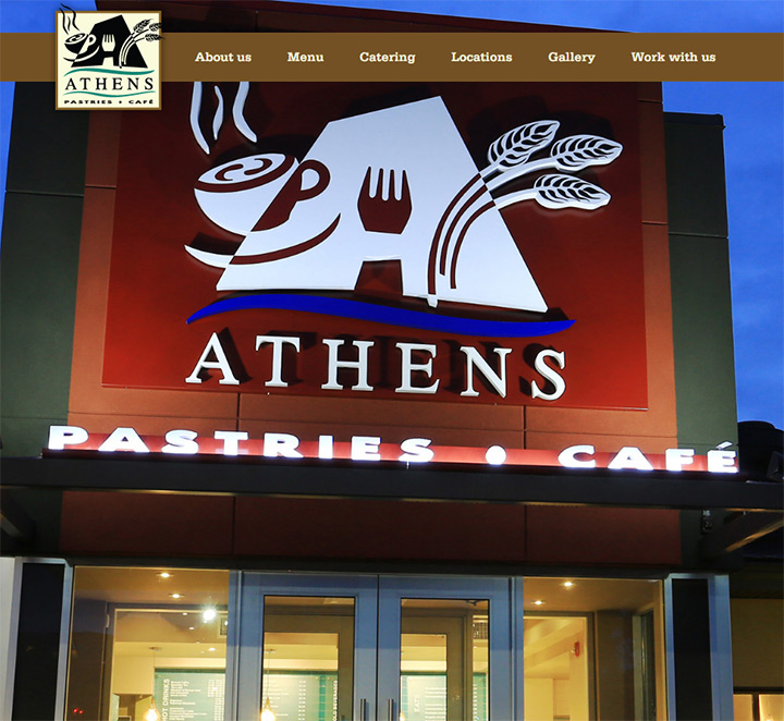 athens pastries homepage
