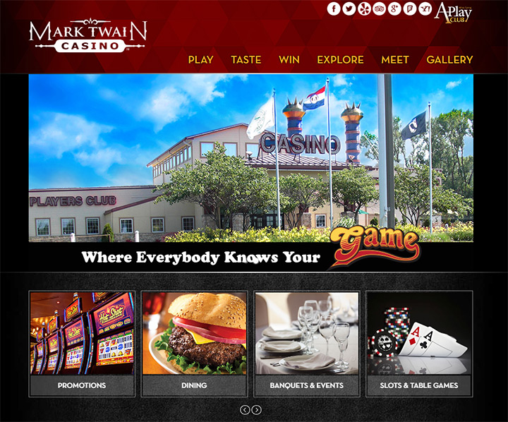 mark twain casino homepage