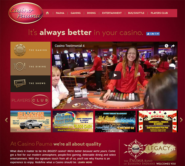casino pauma homepage