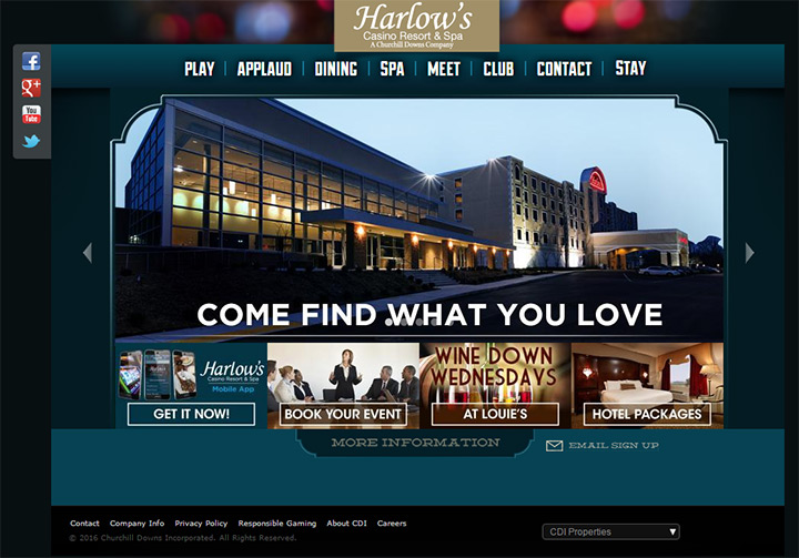 harlows casino