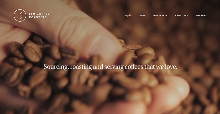 elm coffee roasters website