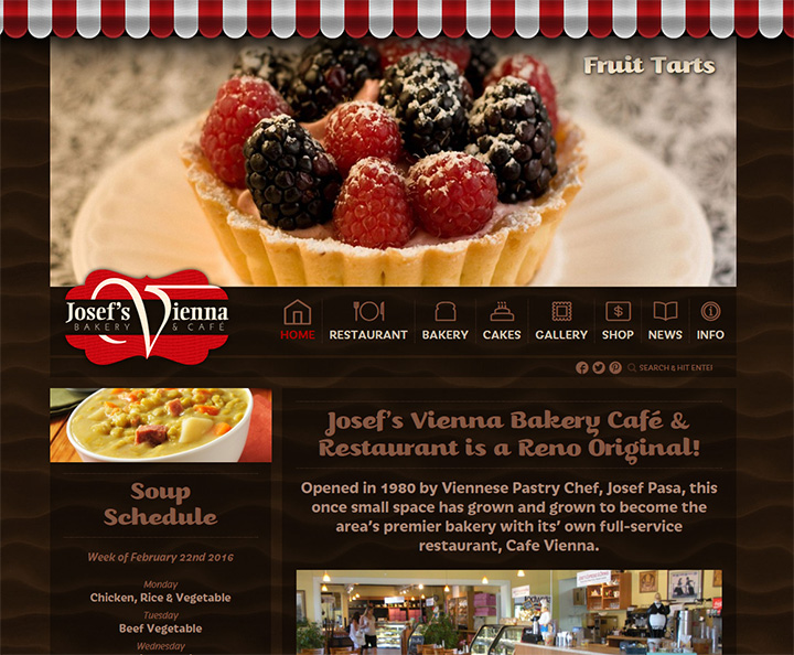 josef bakery cafe website