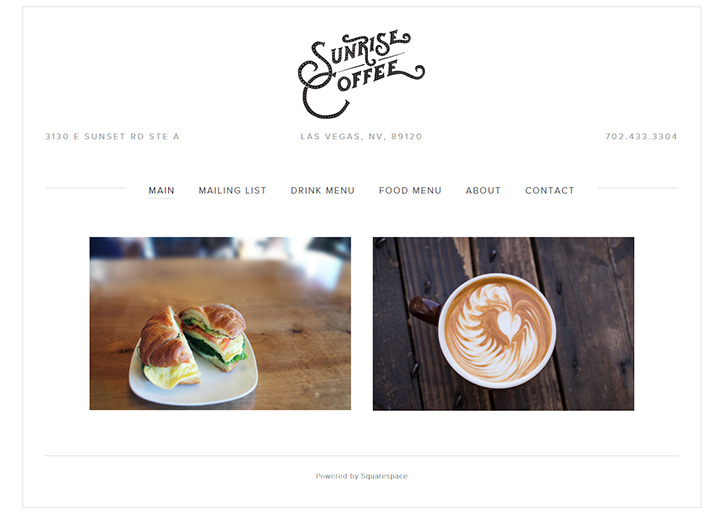 sunrise coffee website