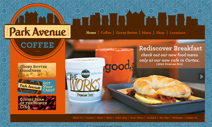 park avenue coffee website