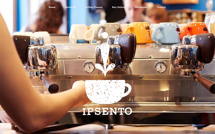 ipsento coffee website