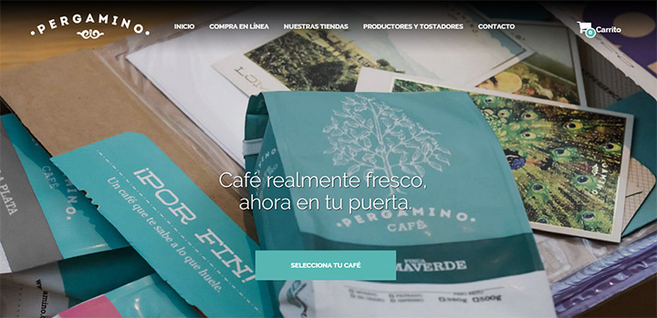 cafe pergamino website