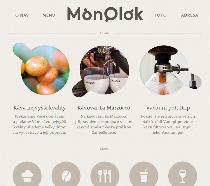 monolok cafe website czech republic