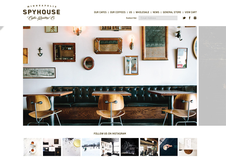 spyhouse coffee website