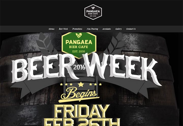 pangaea bier cafe website