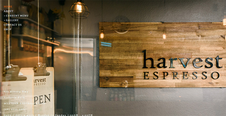 harvest espresso website