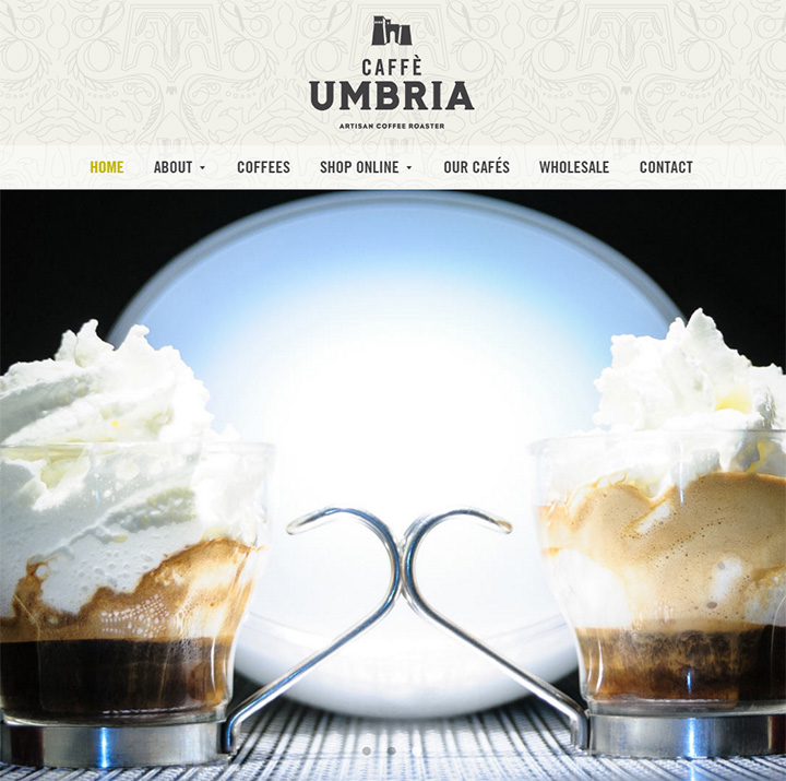 cafe umbria website
