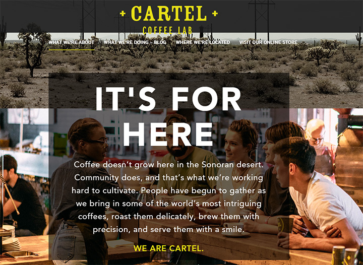 cartel coffee lab website