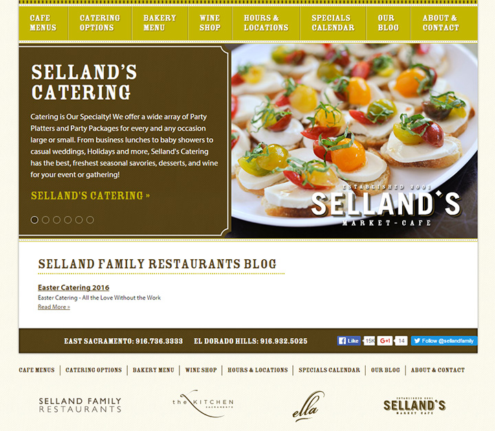 sellands cafe website