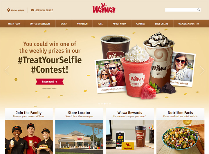 wawa website