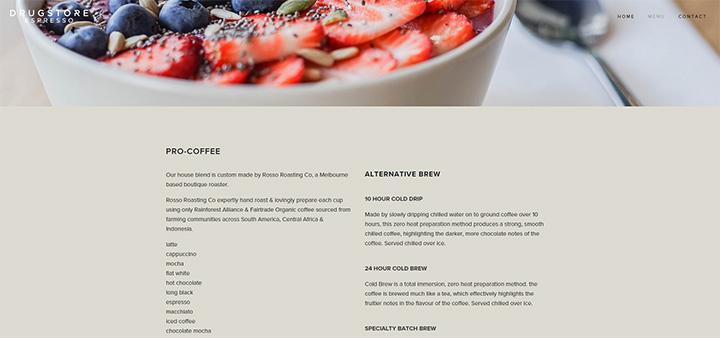 drugstore espresso website
