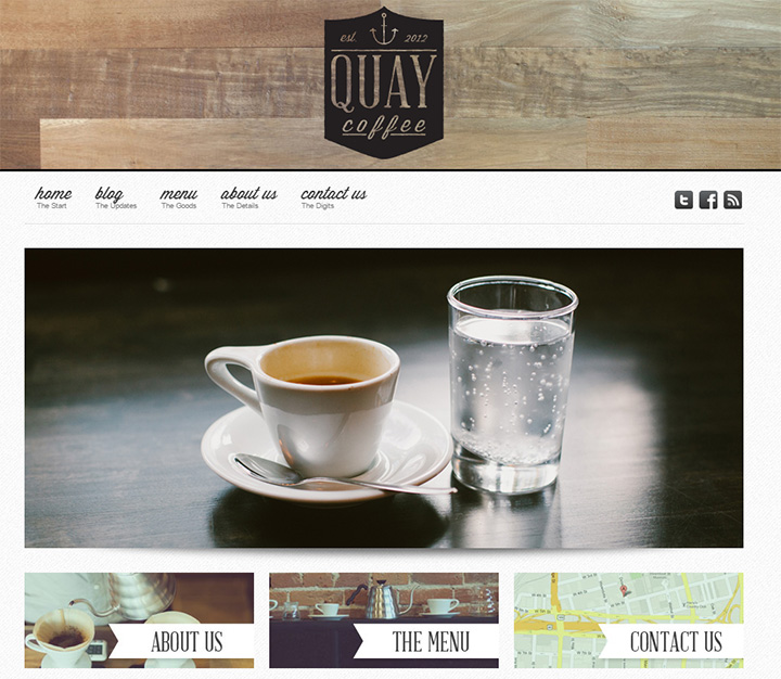 quay coffee website