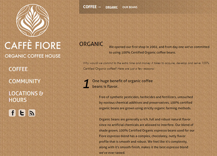 cafe fiore website