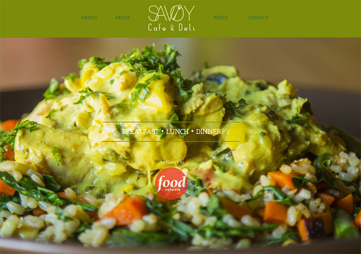 savoy cafe website