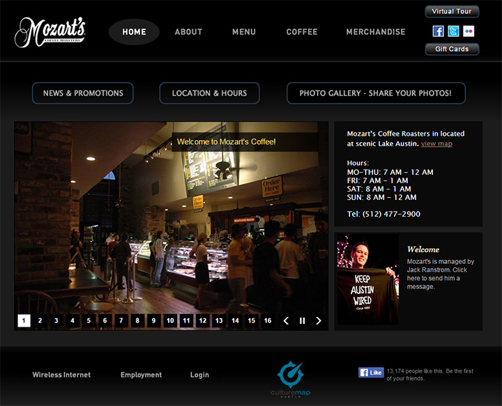 mozarts coffee website