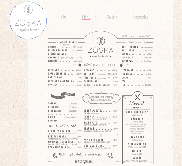 zoska coffee website