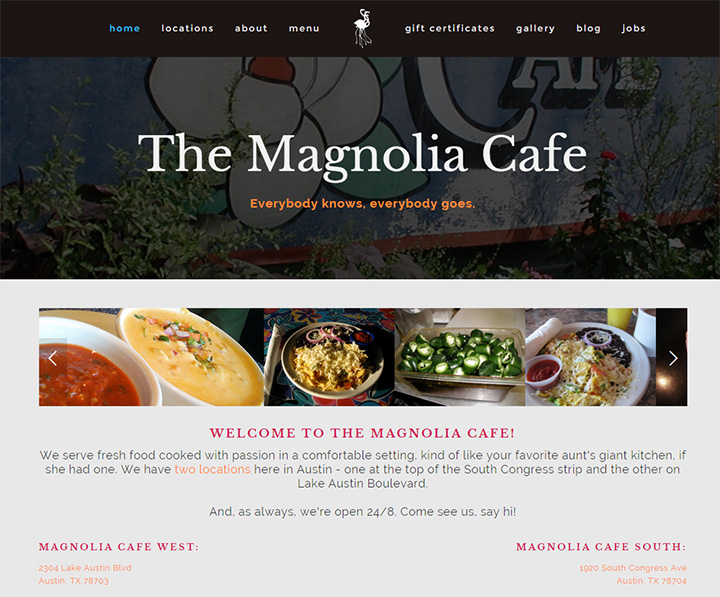 magnolia cafe website