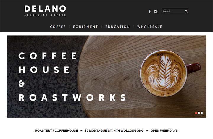delano coffee website