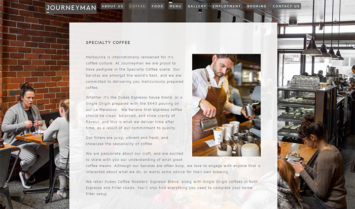 journeyman cafe website