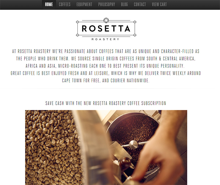 rosetta roastery website