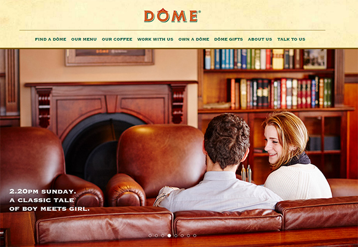 dome cafe website