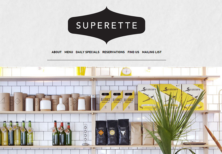 superette website design