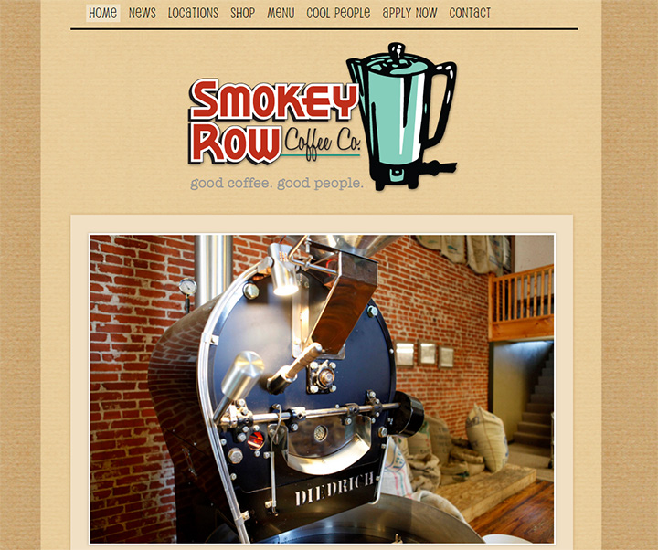 smokey row coffee website