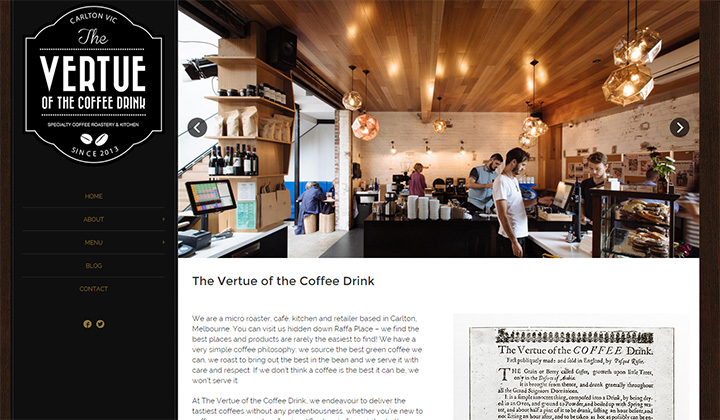 vertue coffee website