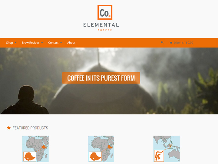 elemental coffee website