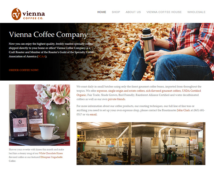 vienna coffee website
