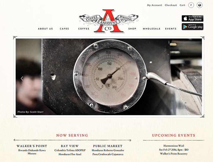 anodyne coffee website