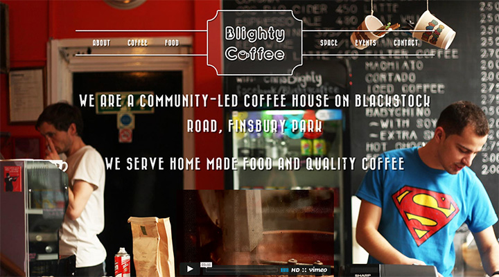 blighty coffee website