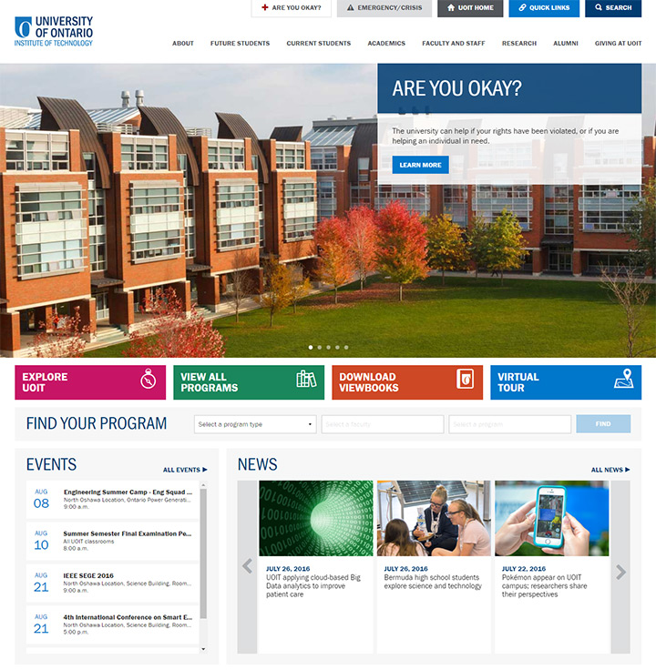 university ontario website