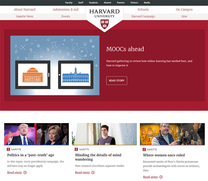 harvard college website