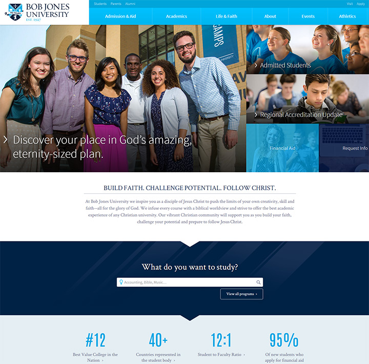 bob jones university website