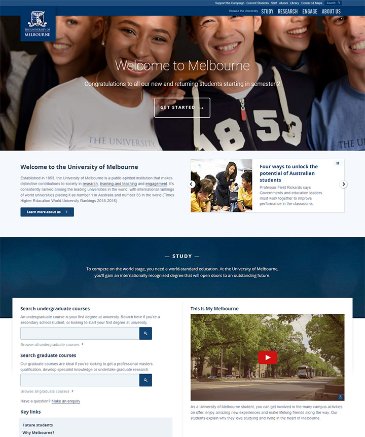 university of melbourne website