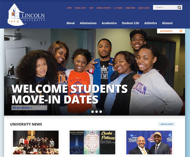 college university website