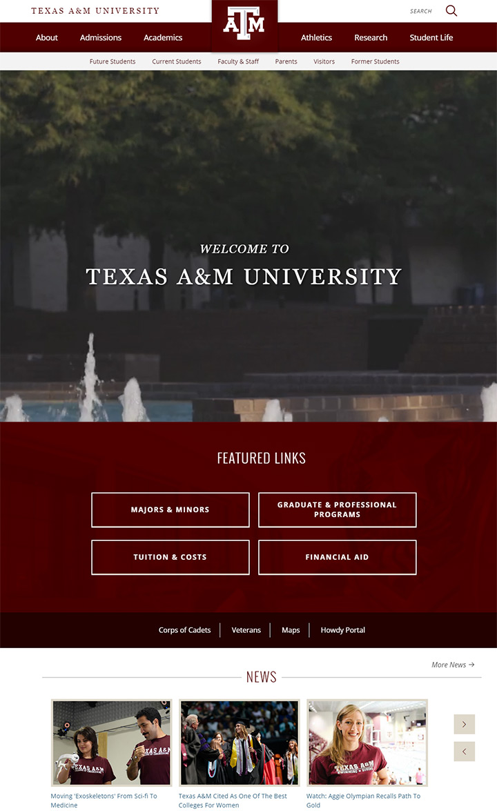 texas am uni website