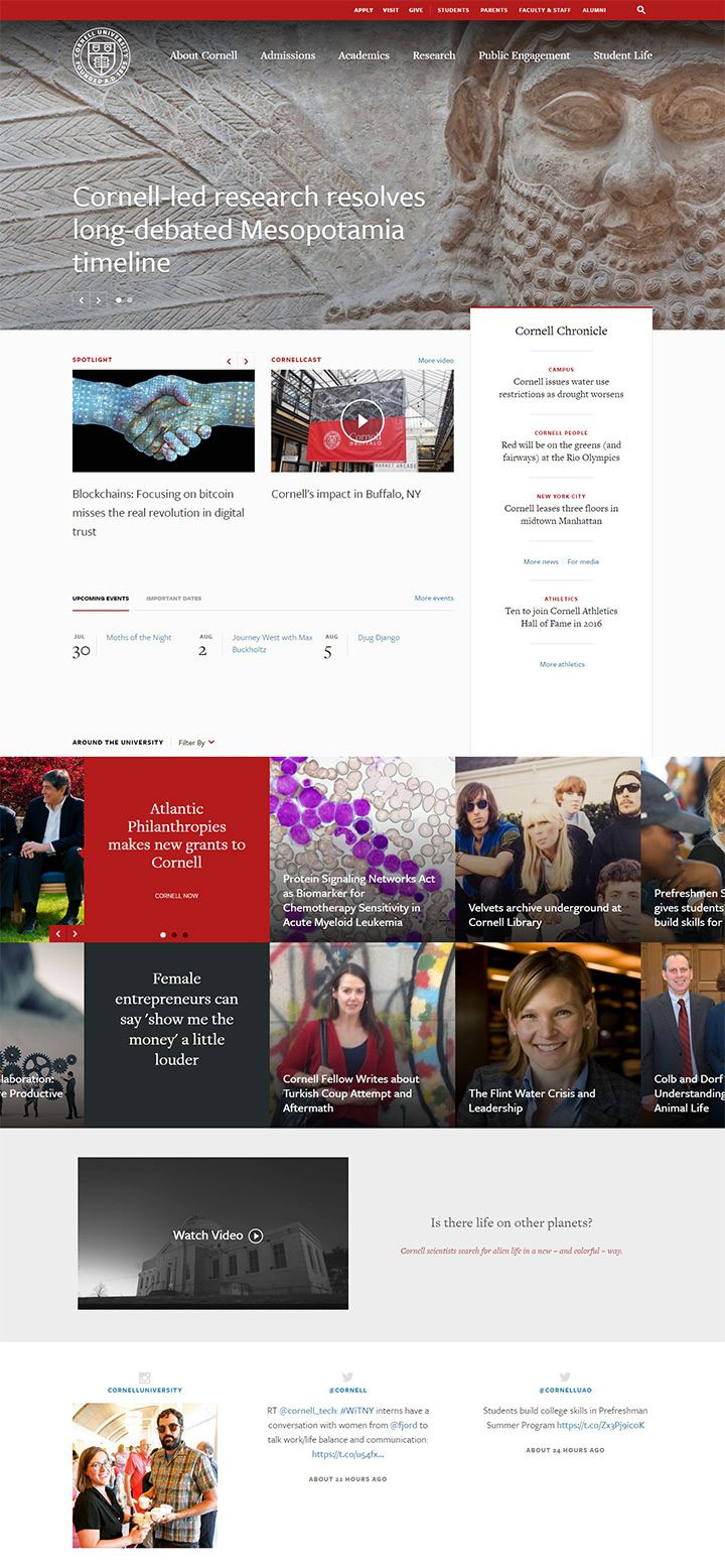 cornell university website