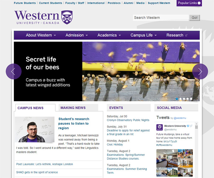 western university website