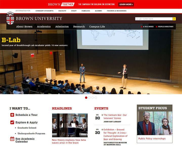 brown university site