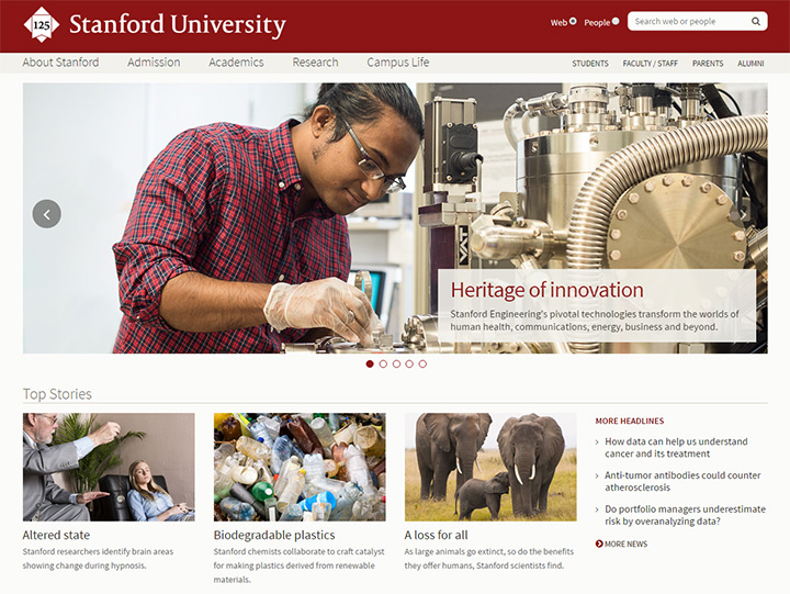 stanford college website
