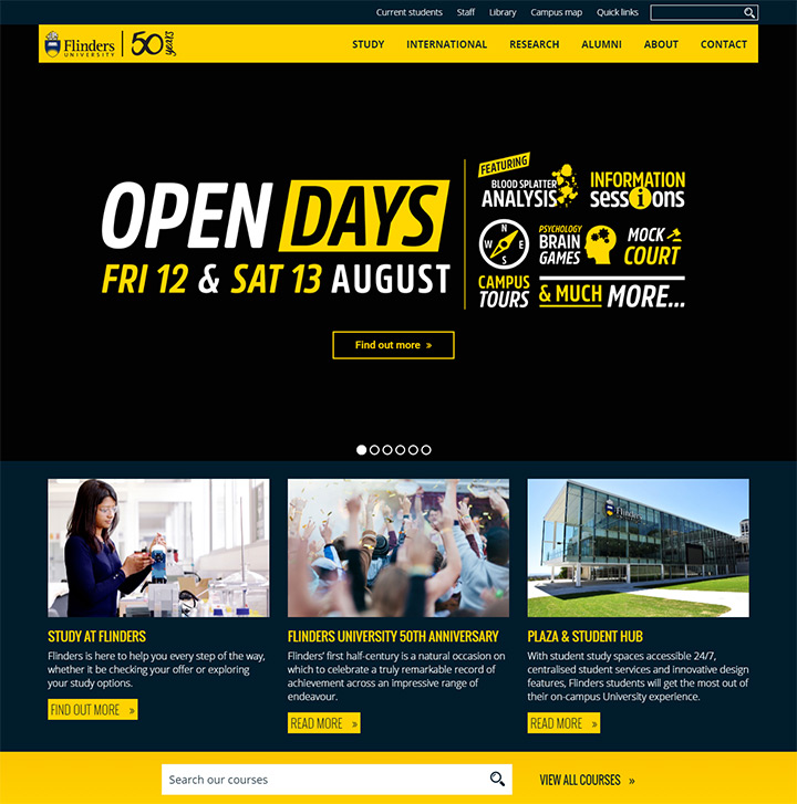 flinders university website