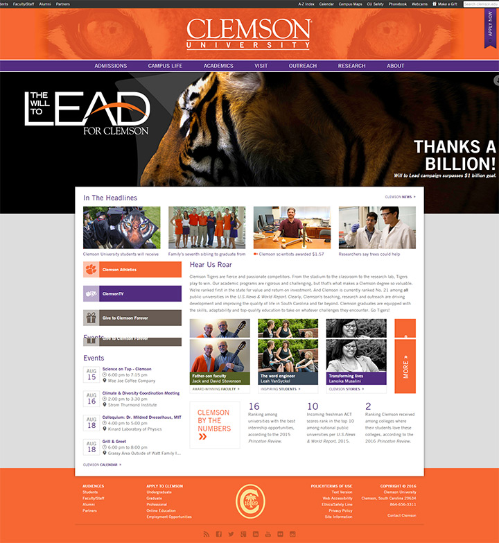 clemson uni website
