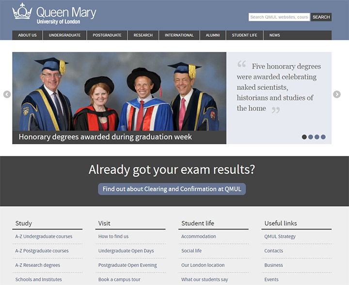 queen mary uni website