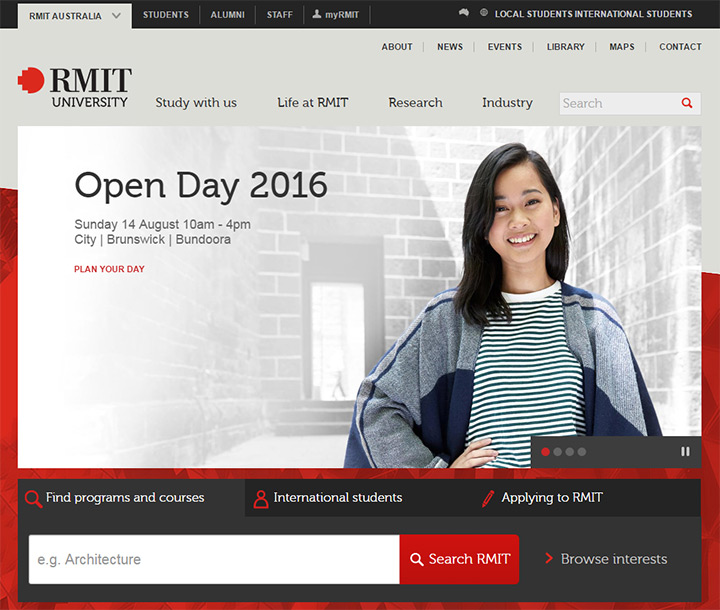 rmit uni website